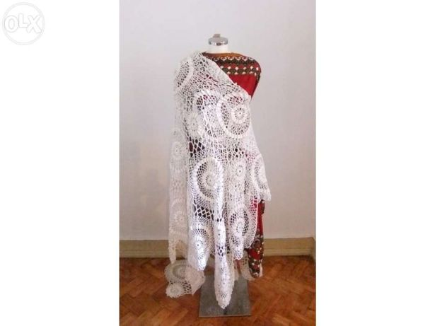 """Manequim Vestido de Crochet """"Romana"""""""
