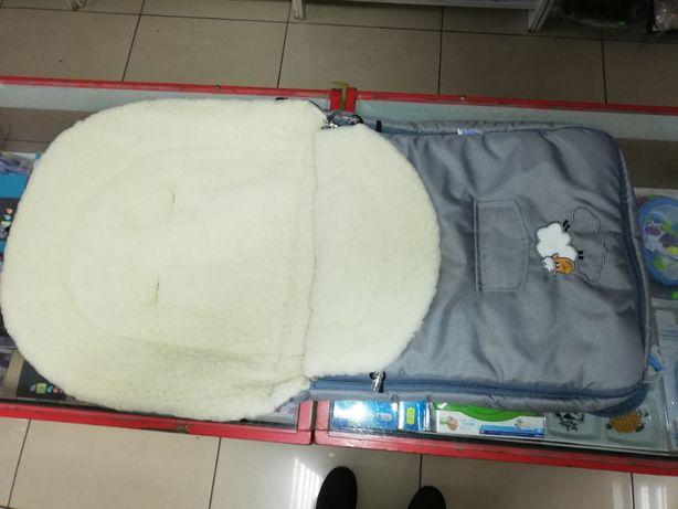 Śpiworek do wózka owcza wełna sensilo 95×40 cm