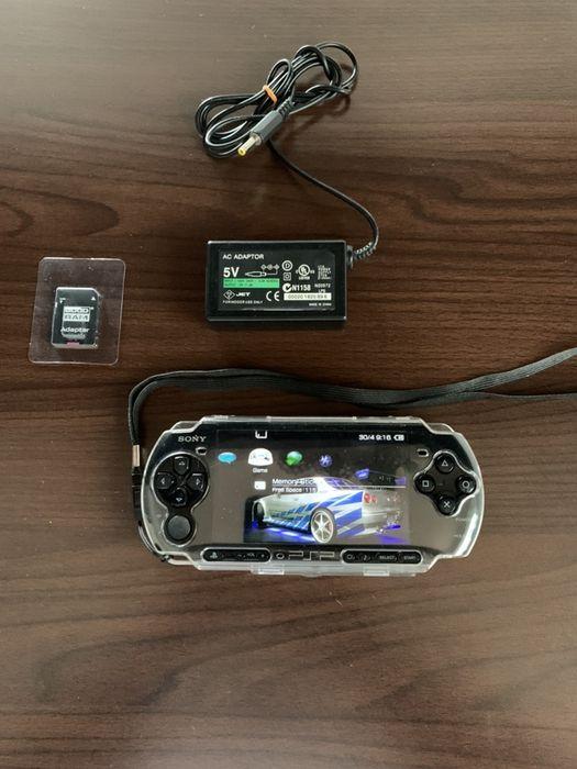 Mega zestaw PSP Najnowszy Soft Etui Dwie Karty Gry Piotrków Trybunalski - image 1