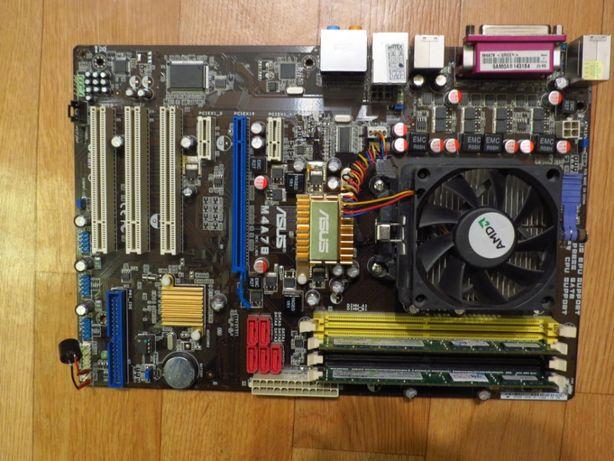 Материнская плата ASUS+процессор+память+кулер