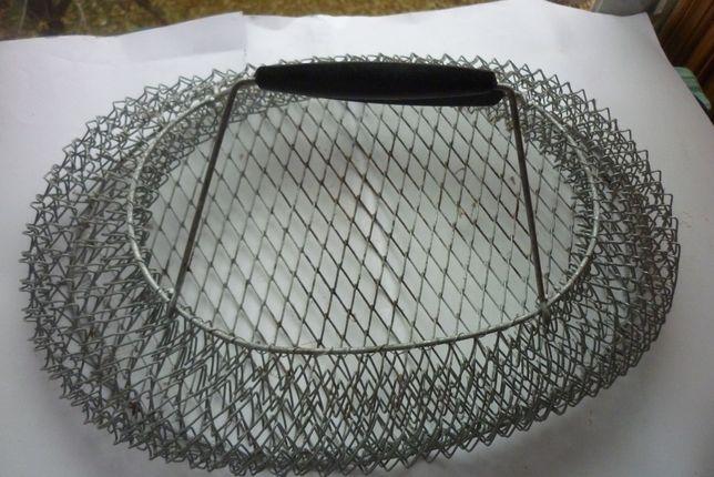 Железная сетка-сумка для рыбака + грибника (оцинковка) - 2 шт.