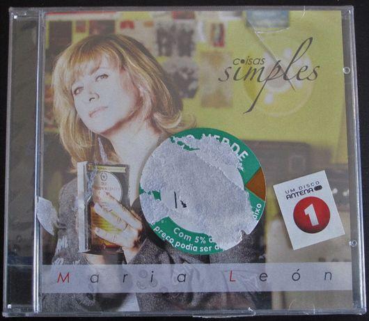CD - Maria León, Coisas Simples - novo, selado