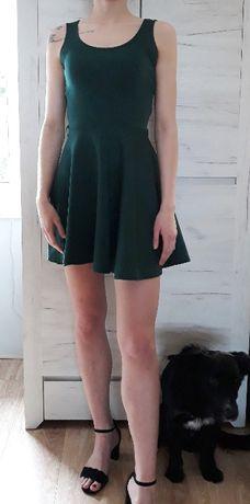 Sukienka ciemna zieleń BOOHOO roz XS/S