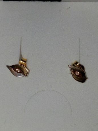 Kolczyki złoto 585 cyrkonie