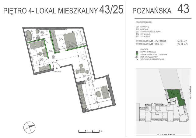 Sprzedam mieszkanie poddasze 72m2, Jeżyce, Poznańska 43, Poznań