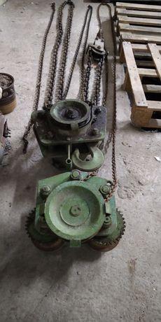 Wciągnik łańcuchowy SEZAMOR 2t, wciągarka i wózek jezdny, WŁ2 i WŁP2.