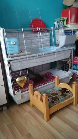 Klatka dla królika 100 piętrowa kuweta Paśnik poidło