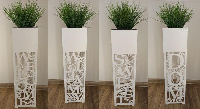 Kwietnik, Donica ażurowa wys. 70 cm, Home, Welcome, Sweet