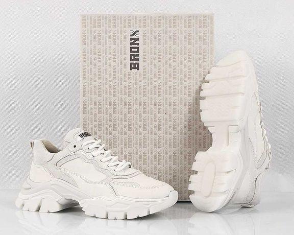 Bronx TAYKE OVER Nowe Sneakersy Buty Skórzane Damskie Okazja 37/24,5CM