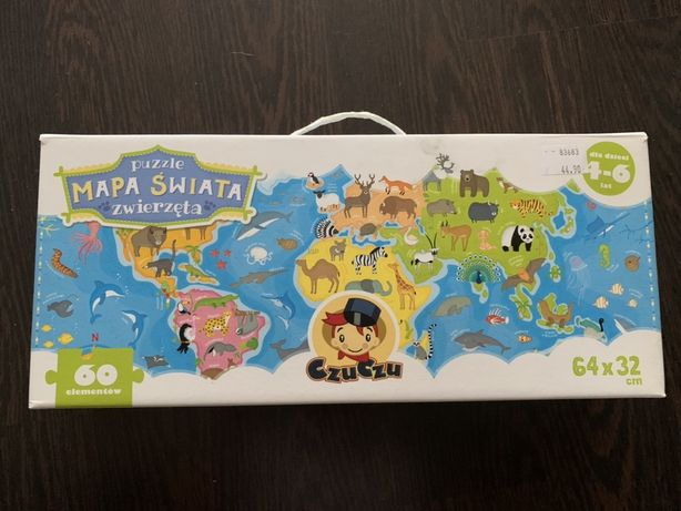 Czu Czu Mapa świata 60 elementów
