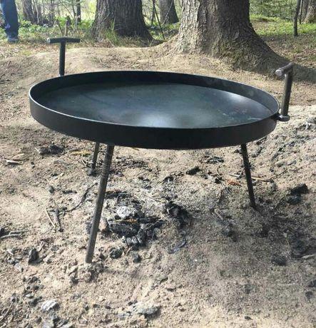 Сковорідка 50см для відкритого вогню з кришкою