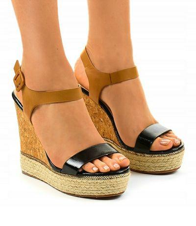 Piękne sandały koturn rozmiar 36 nowe