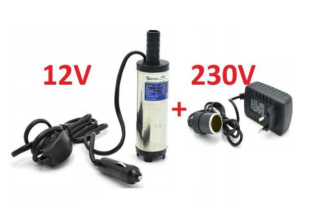 Pompka do paliwa ropy wody 12/230V 20L/min