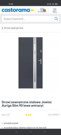 Drzwi zewnętrzne metalowe antracyt