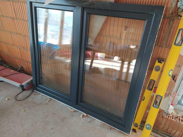 Okno Drutex antracyt 160x140