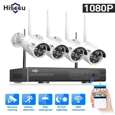 Sistema de vigilância S/fios 1080p/FullHD/2.0mpx - 4 Câmaras
