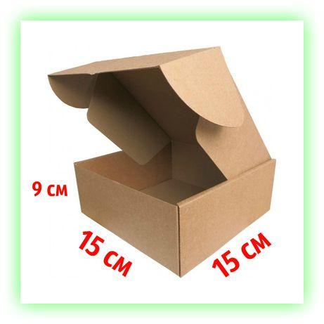 Картонная коробка самосборная подарочная 150х150х90 под подарок