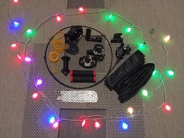 Деребан грипсы камера цепь фонарик фара вынос втулка покрышки MAXXIS