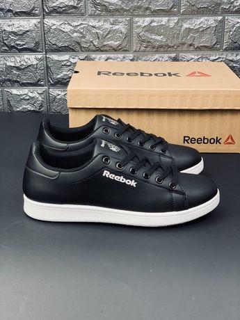 Кроссовки Reebook Classic белые/черные мужские кросівки рибок кожа!!!