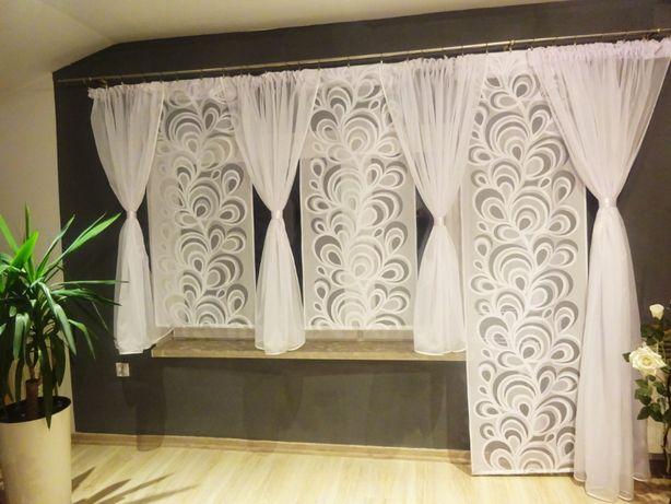 firana balkonowa kokony+ panele pawie oczka