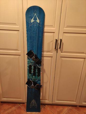 Deska snowboardowa snowboard slalom 170cm z wiązaniami i pokrowcem
