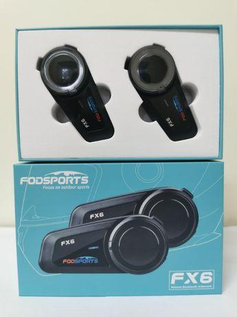 Auriculares/intercomunicadores Bluetooth capacete conferência 6 motas
