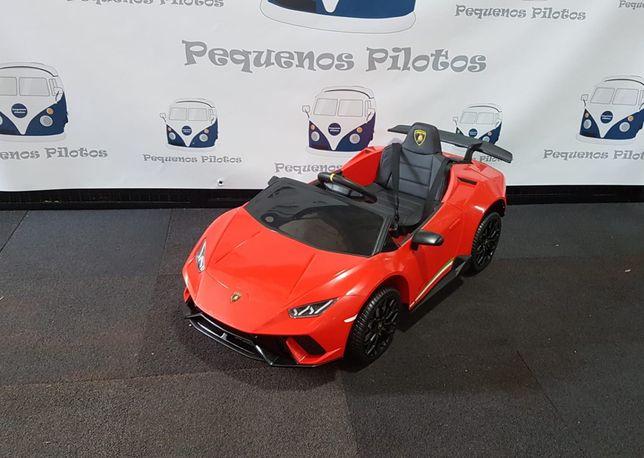 Lamborghini Huracan a bateria 12v para crianças vermelho