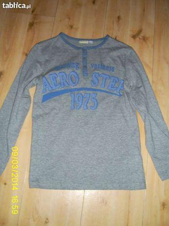 szara bluza młodzieżowa z nadrukiem roz. 146/152 i 158/164