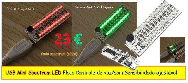 USB mini SPECTRUM Placa de controle de Voz/Som (sensibilid. ajustável)