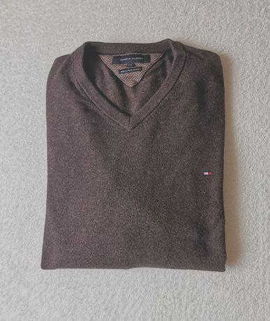 Sweter Tommy Hilfiger roz.XXL kaszmirowy, magicznie miękki