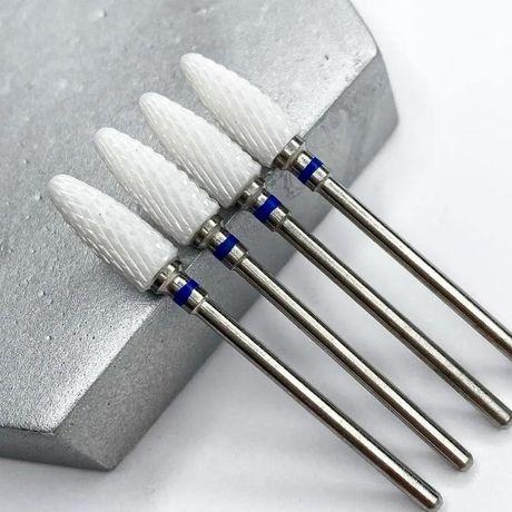 Фреза керамическая Nail Drill для снятия гель-лака (Кукуруза), (синяя
