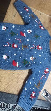 Ciepły świąteczny sweter