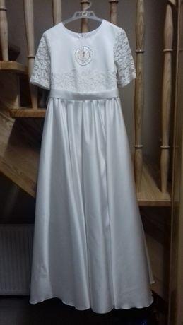 Ładna sukienka komunijna z dodatkami rozm.140-146