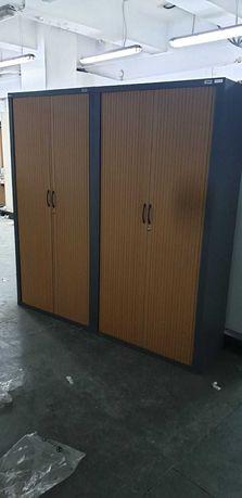 Szafa warsztatowa metalowa z żaluzjowymi drzwiami