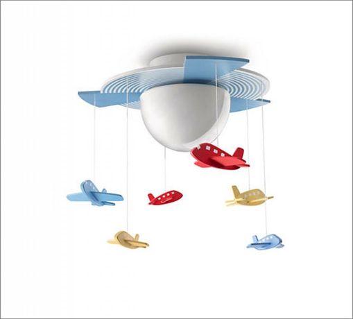 Lampa dziecięca sufitowa samoloty Avigo Philips