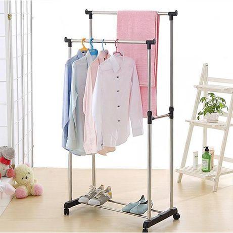 Вешалка для одежды Уникальная Складная 30 кг Double Pole