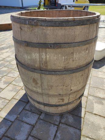 Beczka drewniana duża stara