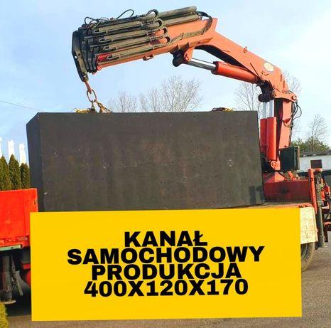 Kanał samochodowy 4x1.20x1.70 Kanały szamba zbiorniki betonowe montaż