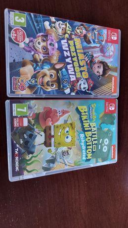 Psi patrol i Spongebob PL Nintendo switch