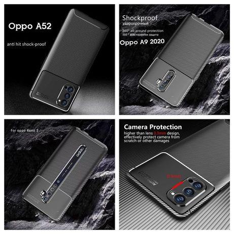 Capa Fibra Carbono Oppo A52 / A91 / A9 2020 / Reno 2Z / Reno 4 Pró -24