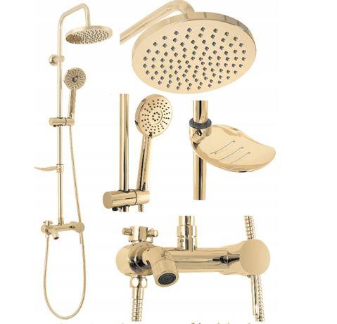 Zestaw Prysznicowy Natryskowy Złoty LUIS GOLD / Silver złoty / chrom