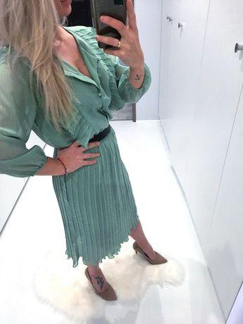Sukienka midi plisa CUDO nowa XL