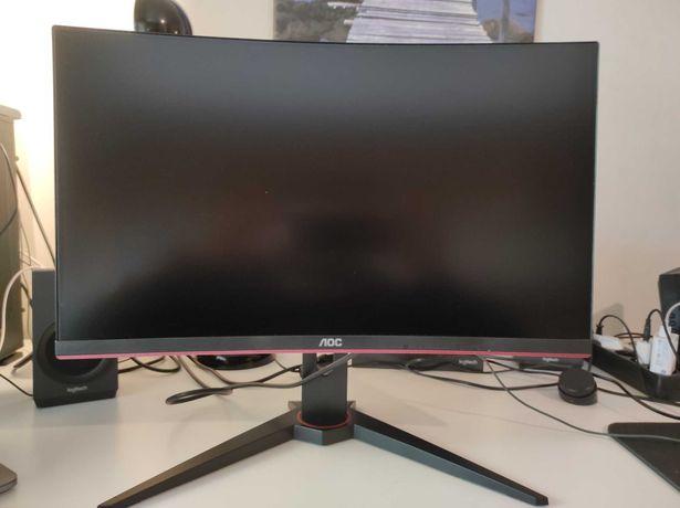 """Monitor Curvo AOC G1 C24G1 VA 23.6"""" FHD 16:9 144Hz FreeSync"""