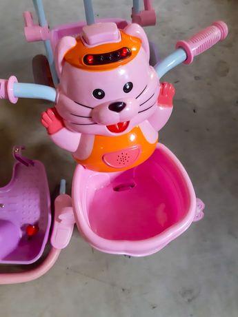 Różowy rowerek dla dziewczynki sprawny gra i swieci cena negocjacja