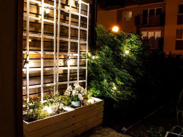 Girlanda ogrodowa świetlna, taras, balkon, patio 20m + 20 żarówek LED