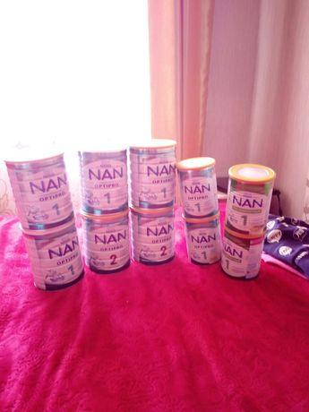 Металеві банки 800 гр та 400 гр з дитячої суміші NAN