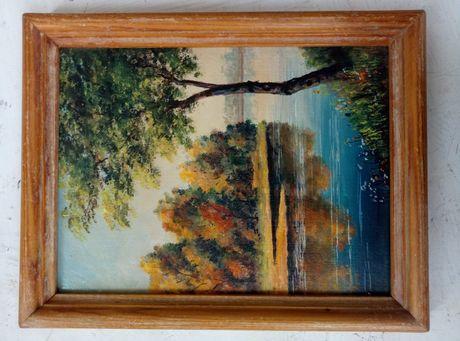 """Картина масло. М.П.Рашкович """"Ранняя осень"""" 1988"""