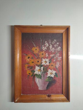 Obraz ręcznie malowany na płycie