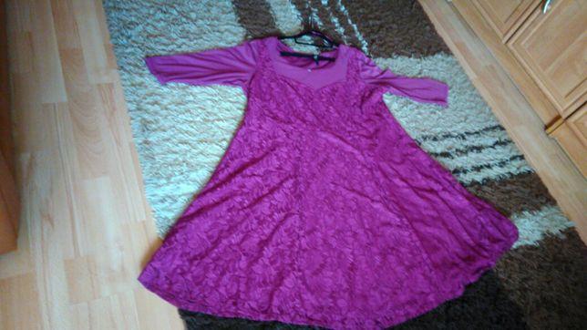 Sukienka EVANS 52-54 fuksja plus size