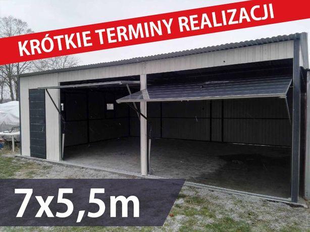 Garaż blaszany 7x5.5m ,garaże blaszane , blaszaki,wiaty,hale